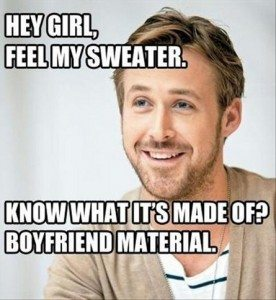 Ryan Gosling, dream meme boyfriend. (Source: Boombeat)